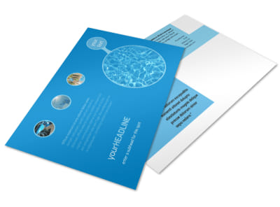 Residential Pool Cleaning Postcard Template preview
