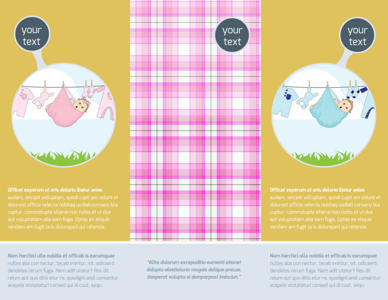 Baby Shower Brochure Template Preview 3