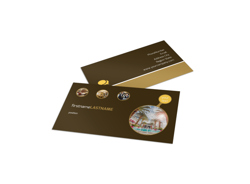 Luxury Hotel Business Card Template Preview 1