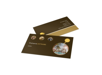 Luxury Hotel Business Card Template preview