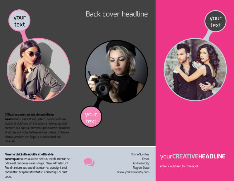 Fashion Photography Brochure Template Preview 2