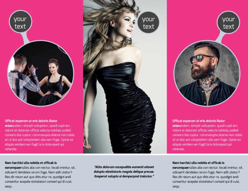 Fashion Photography Brochure Template Preview 3