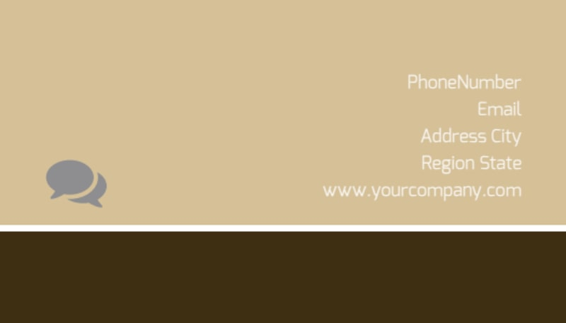 Art Museum Business Card Template Preview 3