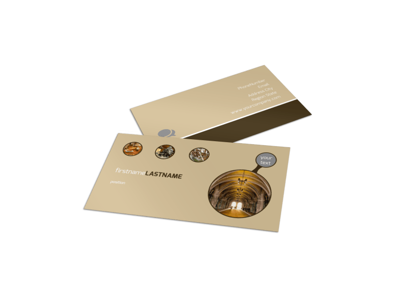 Art Museum Business Card Template Preview 1