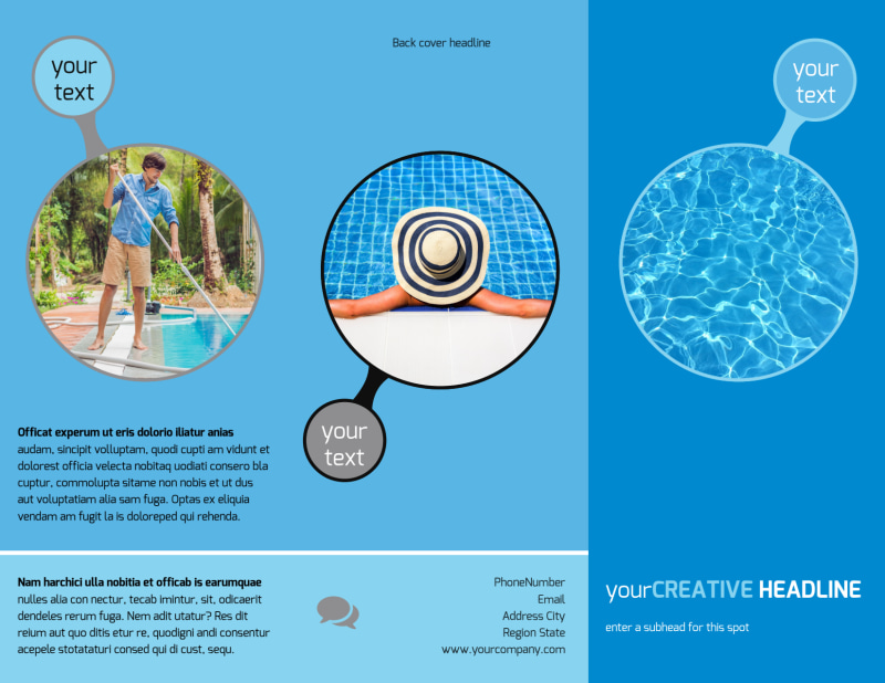 Residential Pool Cleaning Brochure Template Preview 2