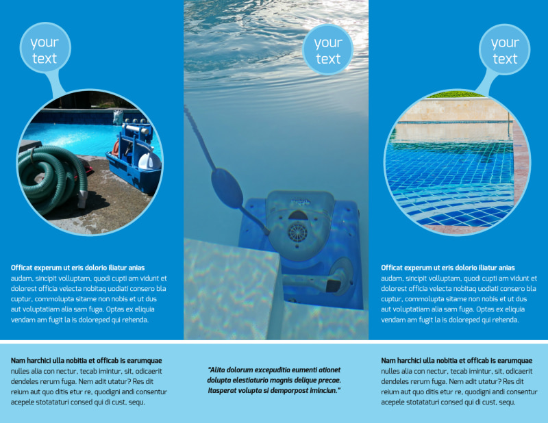 Residential Pool Cleaning Brochure Template Preview 3