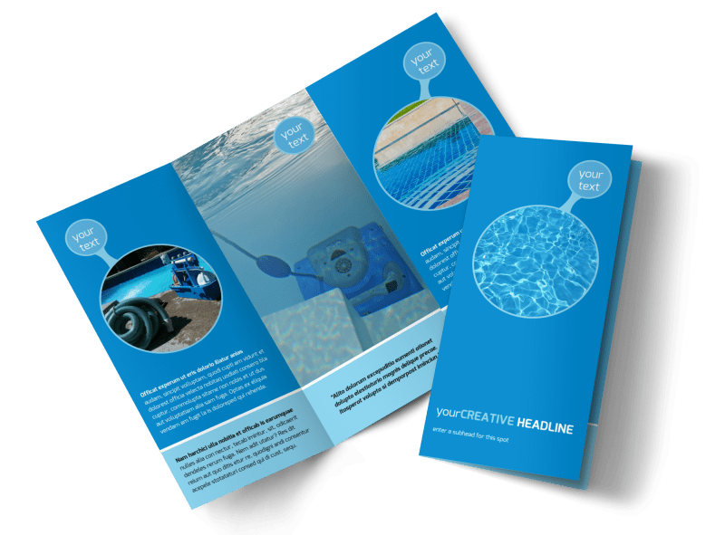 Residential Pool Cleaning Brochure Template Preview 1
