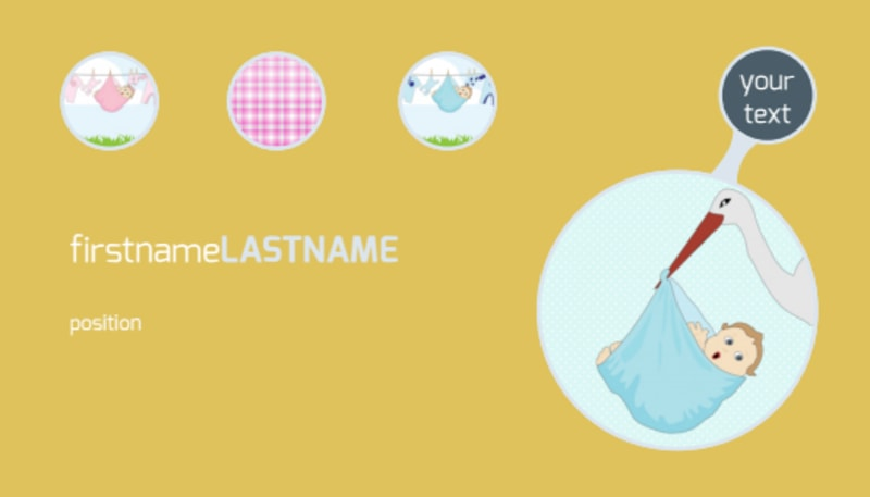 Baby Shower Business Card Template Preview 2