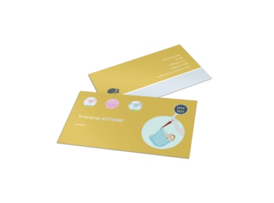 Baby Shower Business Card Template