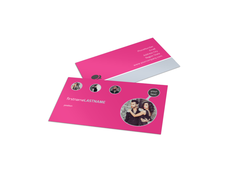 Fashion Photography Business Card Template Preview 1