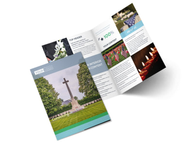 Memorial & Funeral Program Services Bi-Fold Brochure Template 2 preview