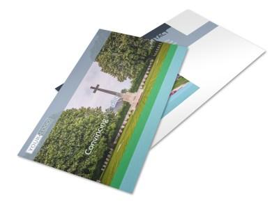 Memorial & Funeral Program Services Postcard Template 2 preview