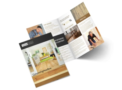 Hardwood Floor Installation Bi-Fold Brochure Template 2 preview