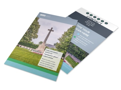 Memorial & Funeral Program Services Flyer Template 3 preview