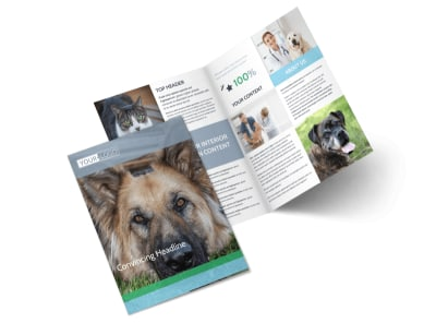 Animal Charities Bi-Fold Brochure Template 2