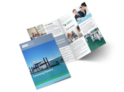 Marine Insurance Bi-Fold Brochure Template 2