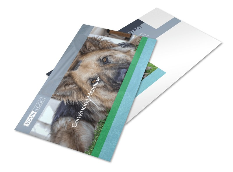 Animal Charities Postcard Template 2