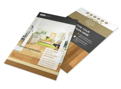 Hardwood Floor Installation Flyer Template 3
