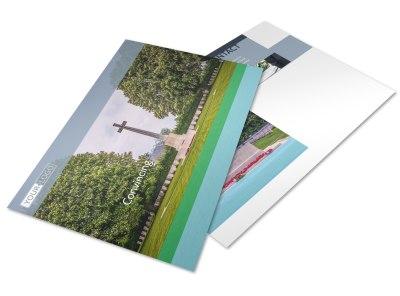 Memorial & Funeral Program Services Postcard Template preview