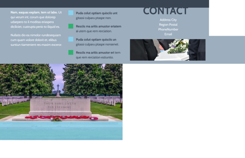 Memorial & Funeral Services Postcard Template Preview 3
