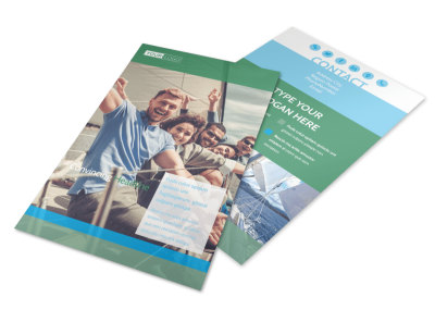 Sailing tours Flyer Template 3