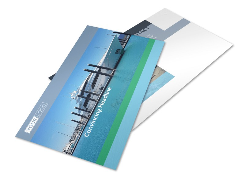 Marine Insurance Postcard Template 2