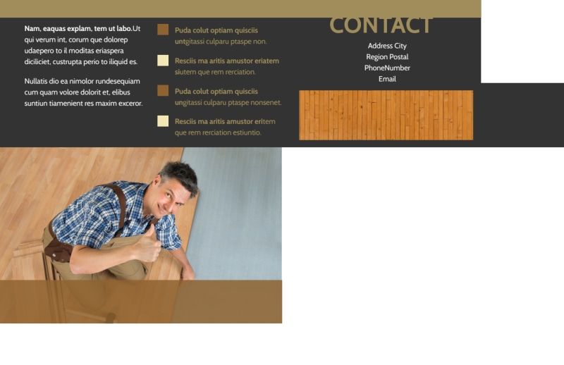 Hardwood Floor Installation Postcard Template Preview 3