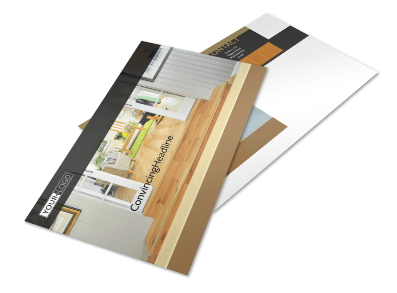 Hardwood Floor Installation Postcard Template Preview 1