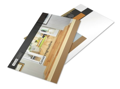 Hardwood Floor Installation Postcard Template