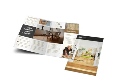 Hardwood Floor Installation Bi-Fold Brochure Template preview