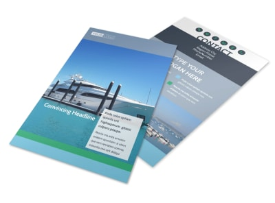 Marine Insurance Flyer Template 3