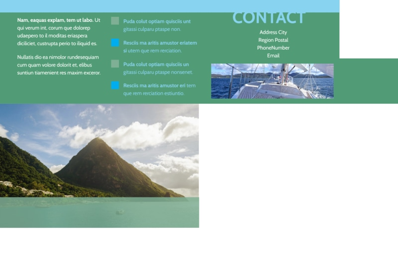 Sailing tours Postcard Template Preview 3