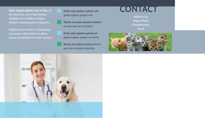Animal Charities Postcard Template Preview 3