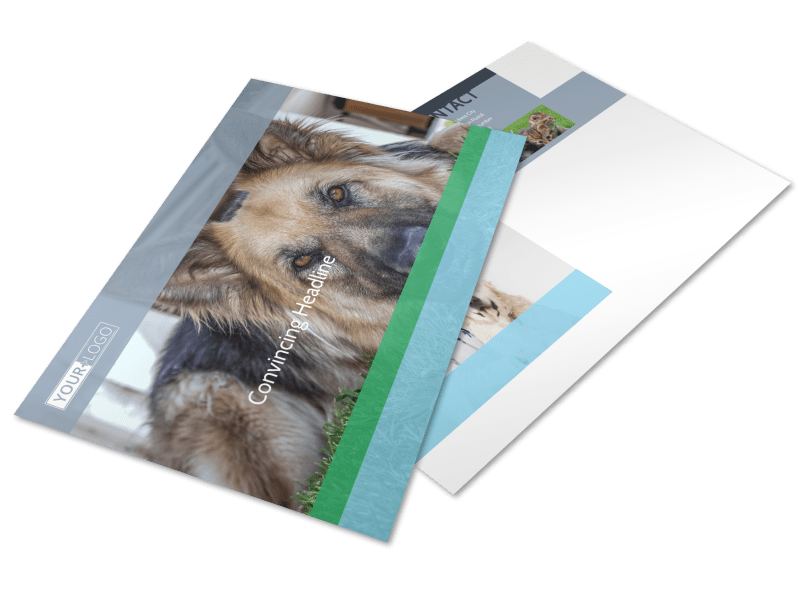 Animal Charities Postcard Template Preview 1
