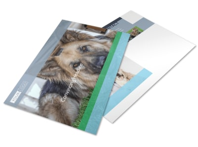 Animal Charities Postcard Template preview