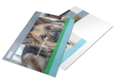 Animal Charities Postcard Template