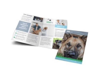 Animal Charities Bi-Fold Brochure Template preview