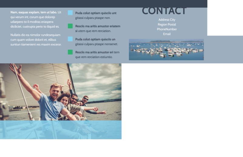 Marine Insurance Postcard Template Preview 3