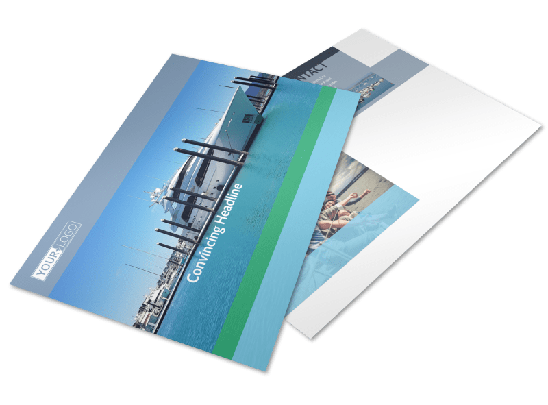 Marine Insurance Postcard Template Preview 1