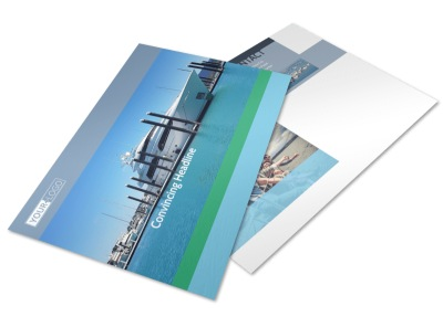 Marine Insurance Postcard Template preview