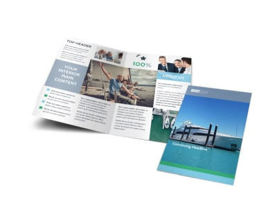 Marine Insurance Bi-Fold Brochure Template