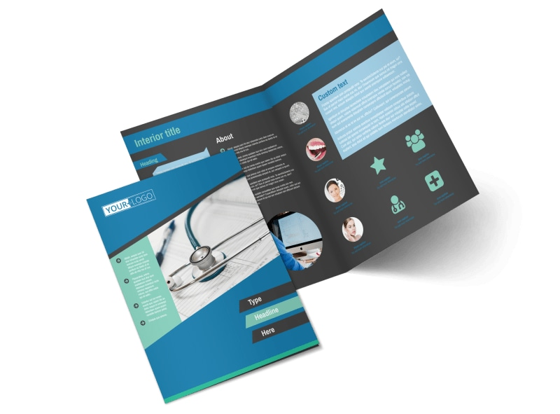 Medical Billing & Coding Bi-Fold Brochure Template 2