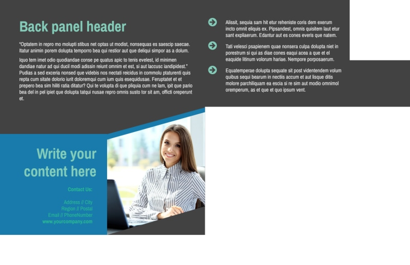 Medical Billing Postcard Template Preview 3