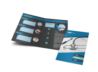 Medical Billing & Coding Bi-Fold Brochure Template
