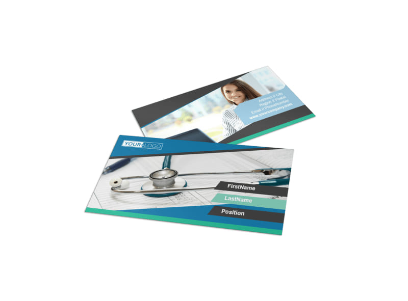 Medical Billing Business Card Template – Medical Business Card Templates