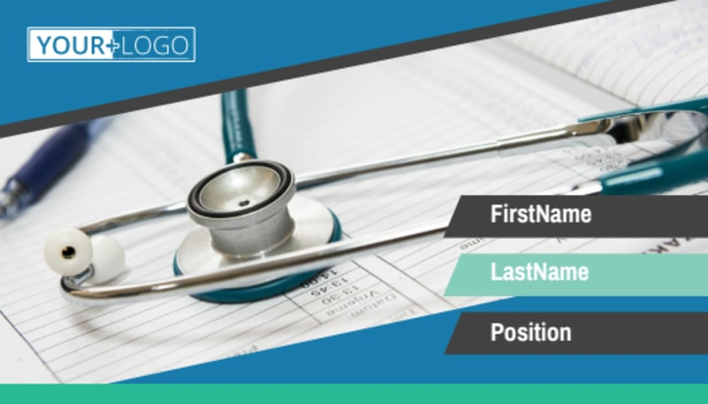 Medical Billing Business Card Template Preview 2