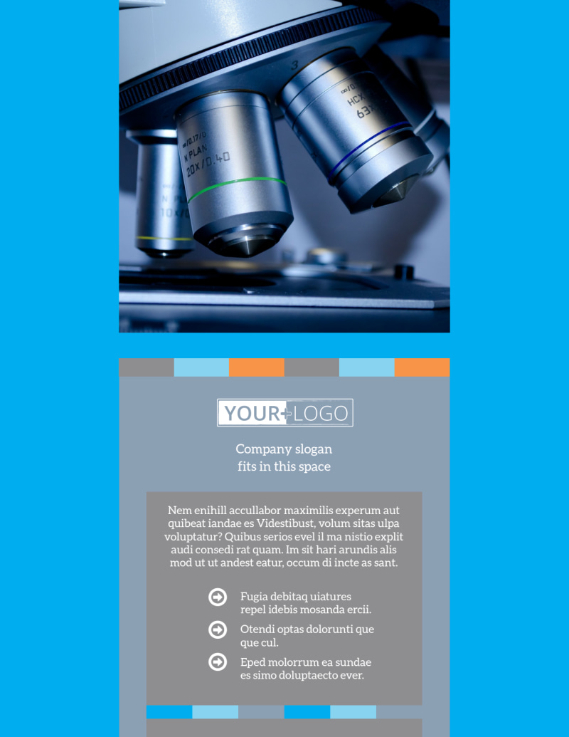 Medical Device Flyer Template Preview 2