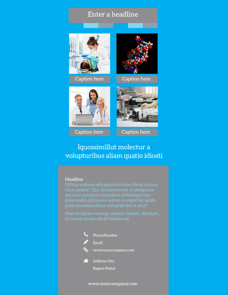 Medical Device Flyer Template Preview 3