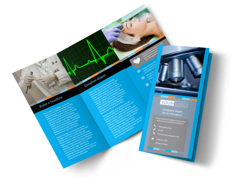 Medical Device Brochure Template  Mycreativeshop