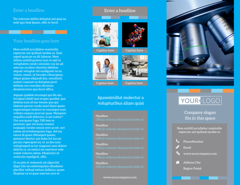 Medical Device Brochure Template Preview 2